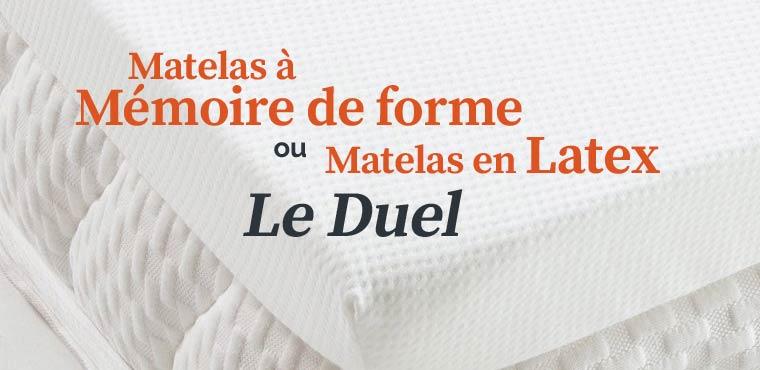 Matelas Latex Memoire De Forme.Matelas En Latex Ou A Memoire De Forme Notre Dossier Complet